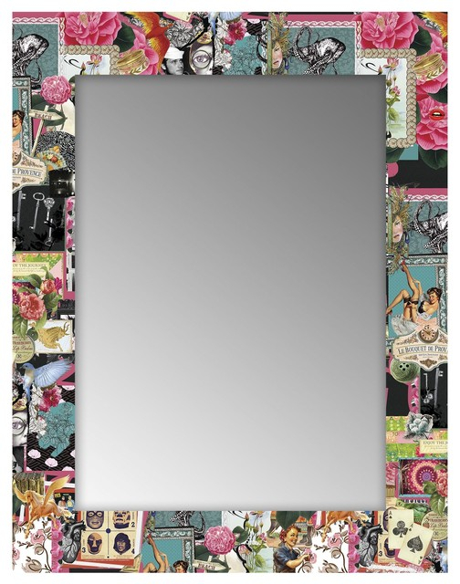 Print baroque miroir rectangulaire 70x90cm imprim r tro for Miroir baroque rectangulaire