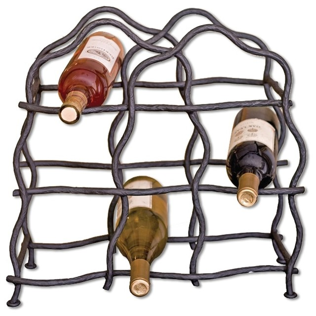 South fork 8 bottle wine rack arts crafts wine racks for Arts and crafts wine rack
