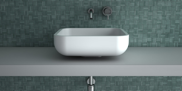 small fancy bathroom sink white square contemporary