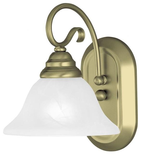 One Light Antique Brass Bathroom Sconce Traditional Bathroom Vanity Lighting By We Got Lites