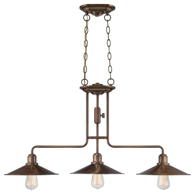 Designers fountain newbury station pendant lighting fixture old satin brass industrial - Industrial lighting fixtures for kitchen ...