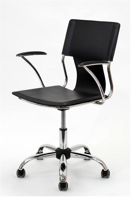 studio office chair in vinyl black contemporary office chairs