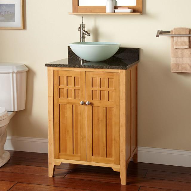 24 Betong Bamboo Vessel Sink Vanity Modern Bathroom Vanities And Si