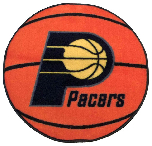NBA Indiana Pacers Rug Basketball Shaped Mat