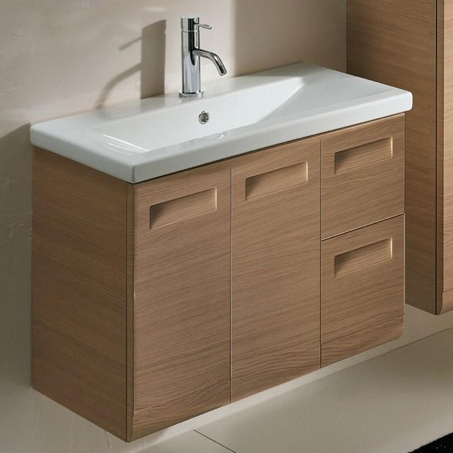2 Doors, 2 Drawer Vanity Cabinet with Self Rimming Sink - Contemporary - Bathroom Vanities And ...