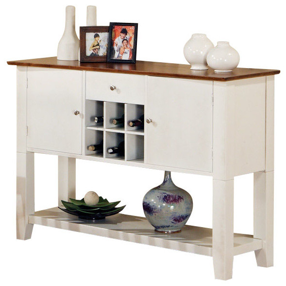 Steve Silver Branson Server In White Traditional Buffets And Sideboards By Beyond Stores