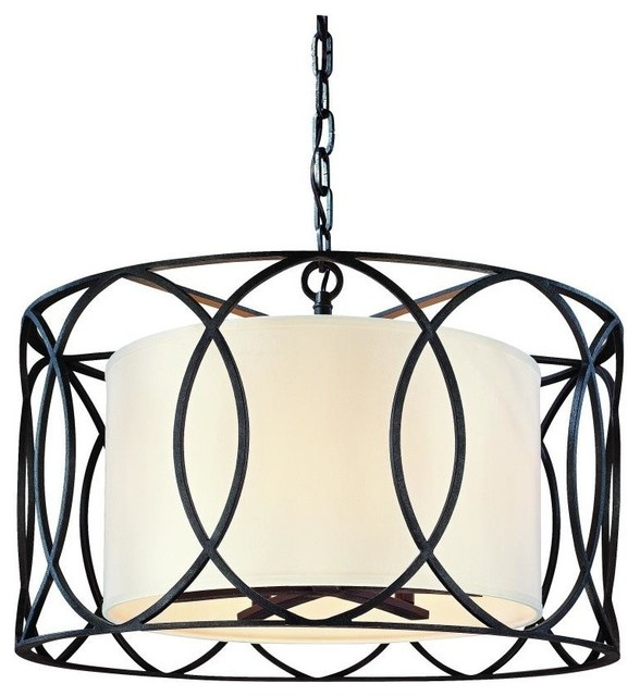troy lighting pendant sausalito deep bronze traditional. Black Bedroom Furniture Sets. Home Design Ideas
