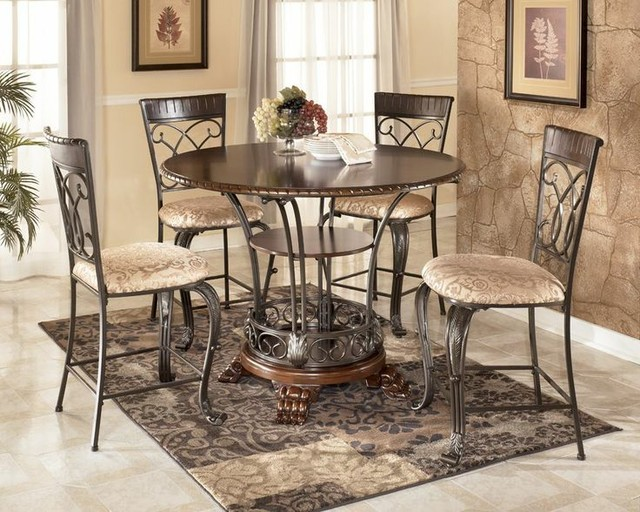 Ashley furniture counter height dining set images antique for Ridgley dining room set