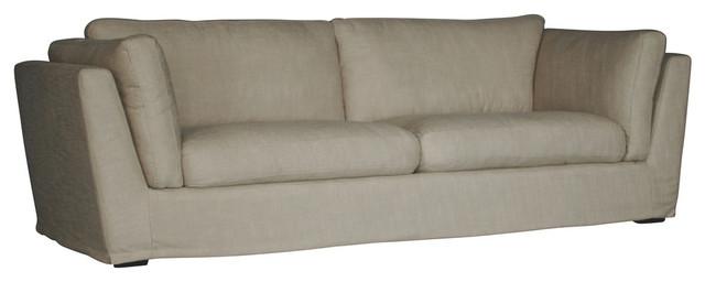 David Linen Sofa, Cream Linen