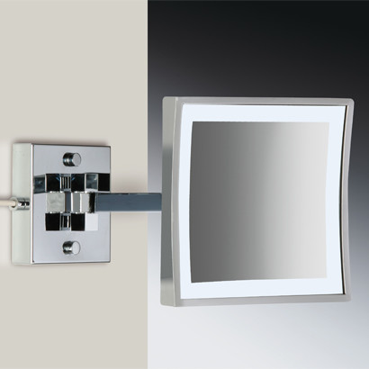 wall mounted led lighted magnifying mirror modern makeup mirrors philad. Black Bedroom Furniture Sets. Home Design Ideas