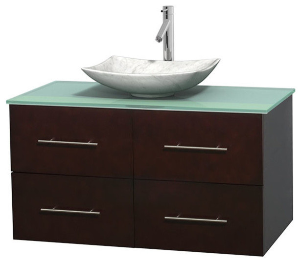 Glass Vanities And Sinks : ... Glass Countertop and Sink - Contemporary - Bathroom Vanities And Sink