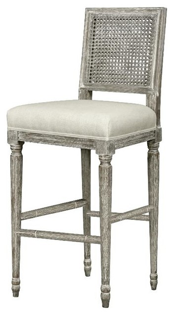 Bungalow 5 Annette Barstool in Gray Limed Oak traditional