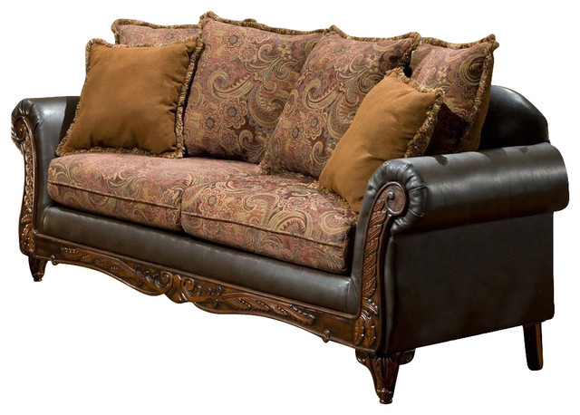 Traditional Sofa Pillows : Traditional Sofa with Toss Pillows - Victorian - Sofas - by ShopLadder