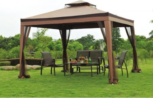 big lots 10x10 opp gazebo replacement canopy fabric gazebos by sunjoy industries. Black Bedroom Furniture Sets. Home Design Ideas