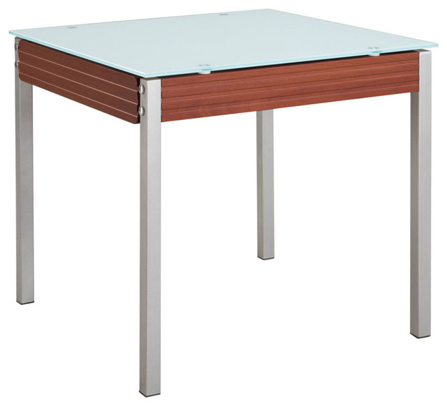 Global D3232DT M Frosted Glass Top Dining Table in  : contemporary dining tables from www.houzz.com.au size 640 x 582 jpeg 38kB