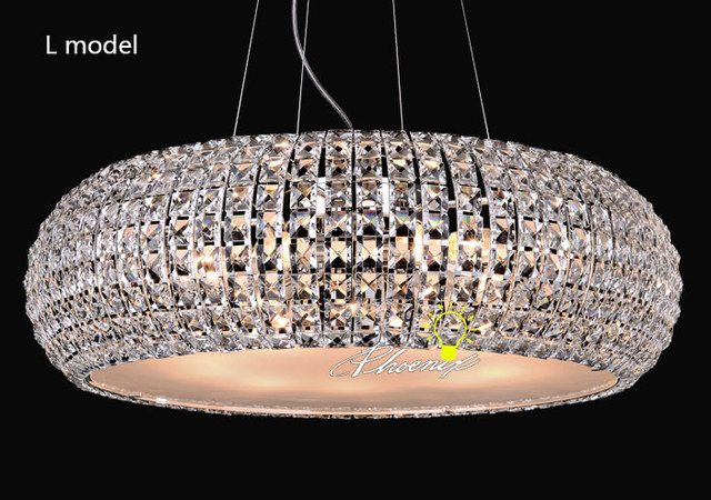 Modern Round Crystal Pendant Lighting