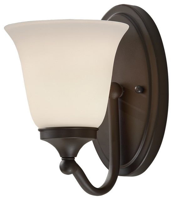Feiss Bathroom Wall Sconces : Feiss VS18501-ORB Beckett 1 Light Oil Rubbed Bronze Bathroom Wall Sconce - Transitional ...