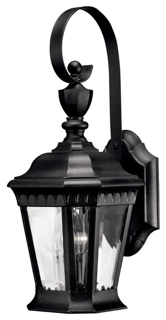 Hinkley Lighting Camelot Traditional Outdoor Wall Sconce, Small, Black - Contemporary - Outdoor ...