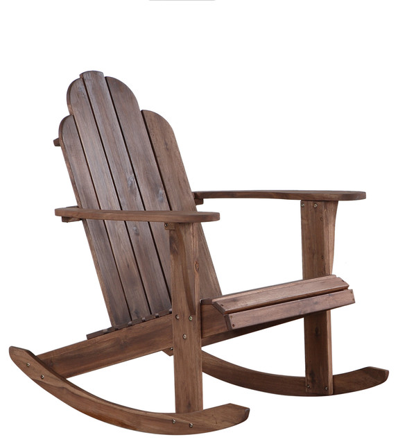 Teak Adirondack Rocker Farmhouse Outdoor Rocking