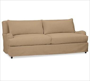 Carlisle Slipcovered Grand Sofa Down Blend Wrap Cushions
