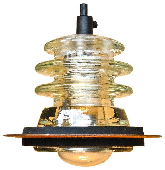Insulator Light Pendant 5 Rusted Metal Hood