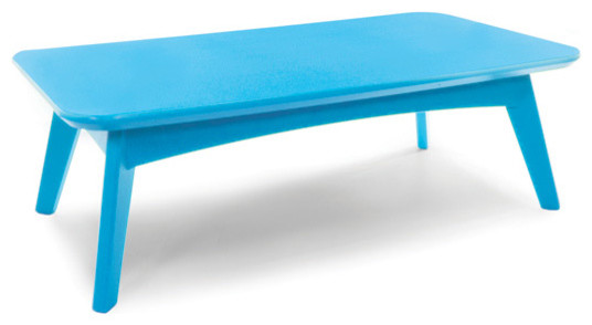 Satellite Cocktail Table Rectangle Sky Blue Contemporary Outdoor Coffee Tables By Loll
