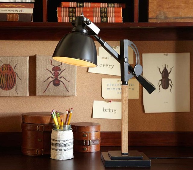 Wood Metal Task Lamp Contemporary Desk Lamps By