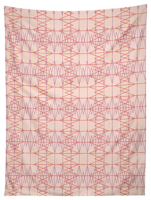 deny designs zoe wodarz geo stitch plaid tapestry modern wandteppiche. Black Bedroom Furniture Sets. Home Design Ideas