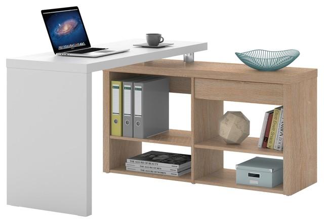 stars bureau d 39 angle avec 1 tiroir et 4 tag res. Black Bedroom Furniture Sets. Home Design Ideas