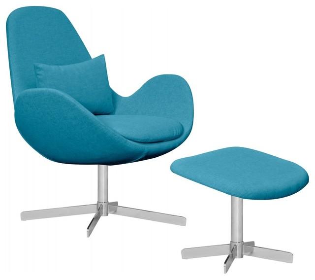 loungesessel houston t rkis niedrig mit hocker modern. Black Bedroom Furniture Sets. Home Design Ideas