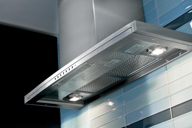 GE Monogram retractable glass canopy hood - Contemporary ...