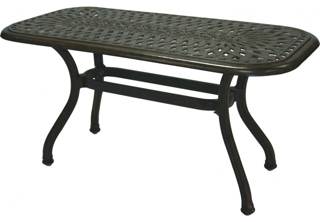 darlee series 60 cast aluminum patio coffee table antique bronze modern garden coffee tables. Black Bedroom Furniture Sets. Home Design Ideas