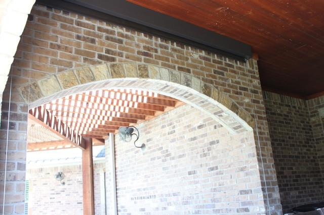 Outdoor Motorized Shades Dallas By Trinity Uptown Custom Window Treatments