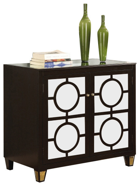 Crestview Collection CVFUR034 Circles Black 2-Drawer Cabinet - Contemporary - Accent Chests And ...