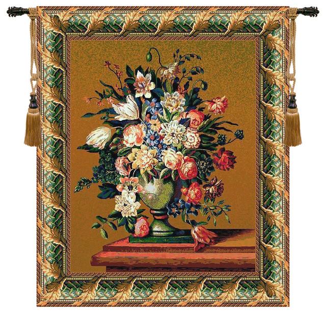 """Breughel's Vase Green, Wall Tapestry, 58""""x47 ..."""