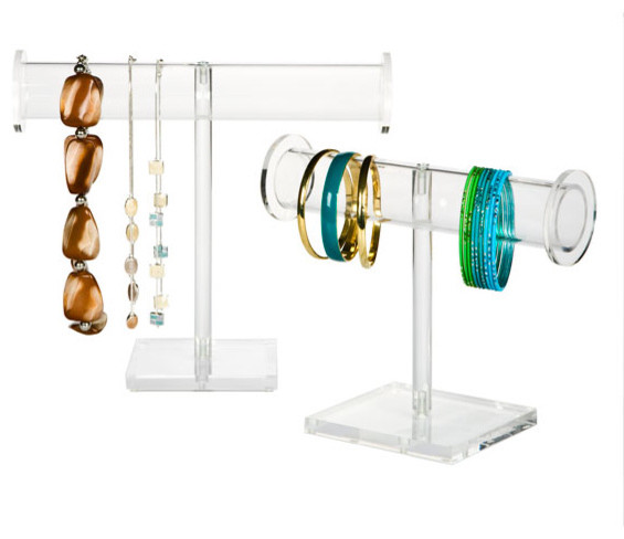Acrylic Jewelry Hangers - Modern - Bathroom Accessories - by The Container Store
