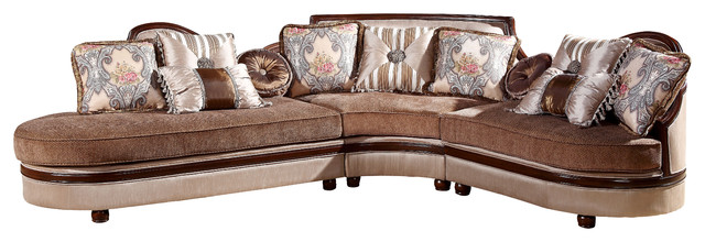 Bellagio traditional 3 piece living room sectional for Bellagio leather chaise