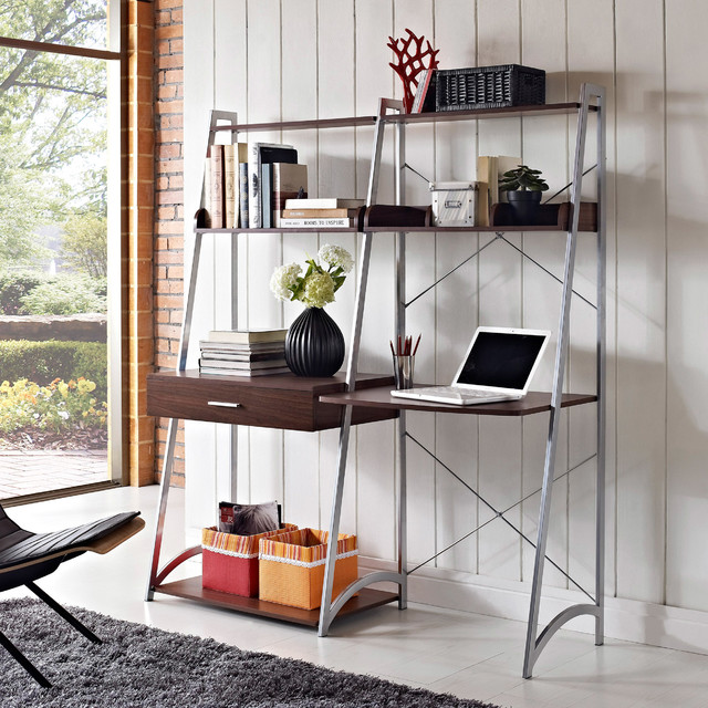 Altra Ladder Desk with Tower Bookcase Contemporary
