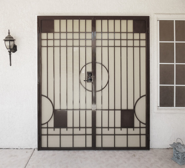 Avery Security French Doors Midcentury Front Doors Las Vegas By Artistic Iron Works