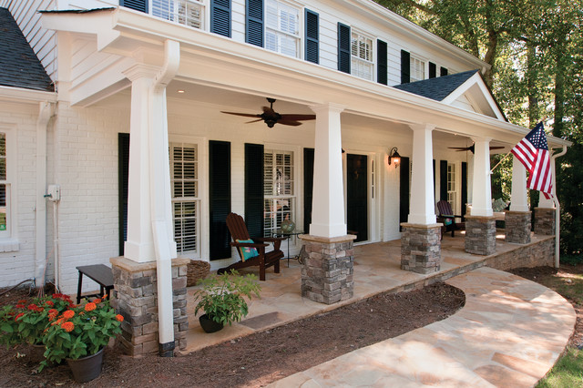 Front porches craftsman porch atlanta by georgia for Georgia front porch