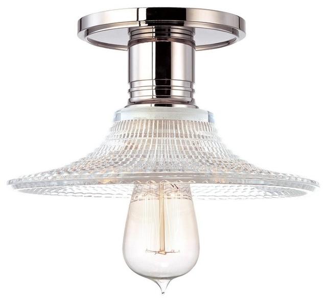 hudson valley lighting heirloom modern semi flush mount