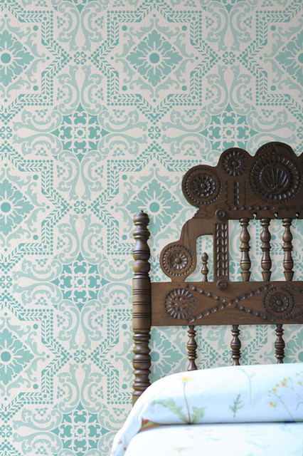Wall Stencils Royal Design : Lisboa tile stencil by royal design studio mediterranean