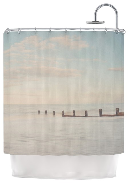 "Laura Evans ""The Rising Tide"" Brown Gray Shower Curtain - Contemporary - Shower Curtains - by ..."