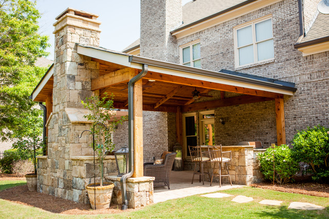 Covered outdoor living space in braselton georgia traditional atlanta by boyce design and - Covered outdoor living spaces ...
