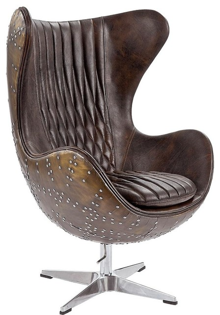 Regina Andrew Java Leather and Brass Egg Chair