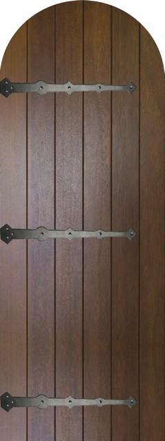 Slab Front Single Door 96 80 Mahogany Rustic Plank Round Top Solid Rustic