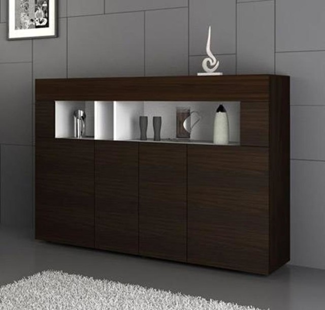 vig modrest aura modern buffet in tobacco contemporary. Black Bedroom Furniture Sets. Home Design Ideas