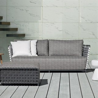 inout 803 polyrattan outdoor sofa 224x81cm bauhaus look outdoor gartenm bel von. Black Bedroom Furniture Sets. Home Design Ideas