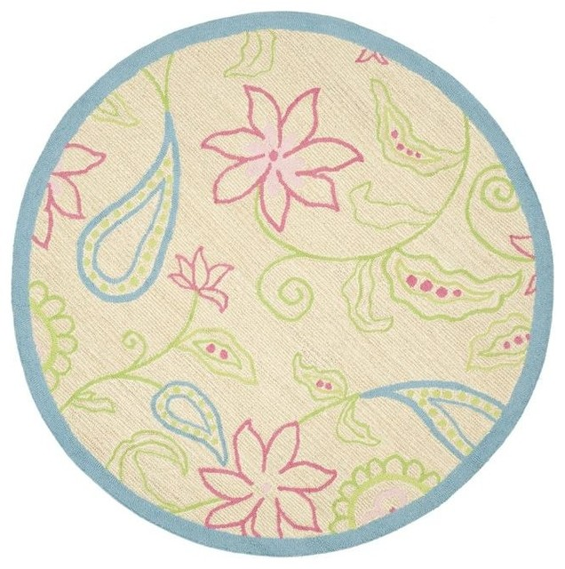 Safavieh handmade children 39 s paisley ivory new zealand for Round rugs for kids