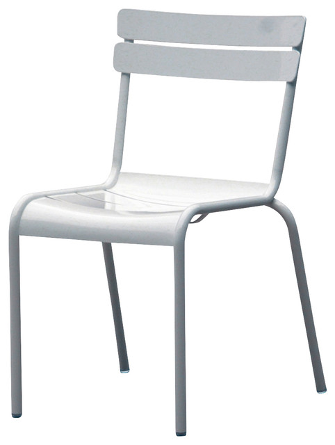 Mercel Dining Chair in White Aluminum by Nuevo HGMS214 Contemporary Out